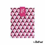ROLL'EAT ROLL'EAT Boc 'N Roll Sandwich Bag - Pink Tiles DNR
