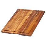 TEAKHAUS TEAKHAUS Corner Hole Cutting Board with Juice Groove 18x14.75