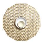 CHILEWICH Kaleidoscope Round Placemat - Brass