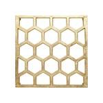 HARMAN HARMAN Honeycomb Metal Trivet - Gold DNR