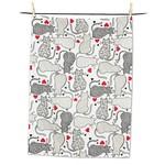 ABBOTT ABBOTT DAVINA NATHAN DESIGN Cats with Hearts Tea Towel