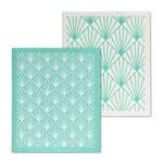 ABBOTT Art Deco Graphic Swedish Dishcloth S/2