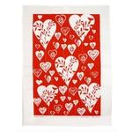 RAIN GOOSE RAIN GOOSE Big Hearts Tea Towel - Red