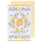 NOW DESIGNS NOW DESIGNS Bees Tea Towel S/2 DNR