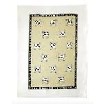 RAIN GOOSE RAIN GOOSE Cow Linen Tea Towel - Taupe