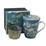 MCINTOSH MCINTOSH Van Gogh Almond Blossoms Mug with Lid