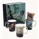 MCINTOSH MCINTOSH Robert Bateman Owls Mugs S/4