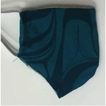 KELLY ROBINSON Raven Cotton Face Mask - Turquoise