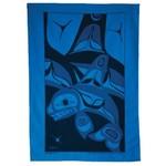 BILL HELIN Killer Whale Tea Towel Jacquard