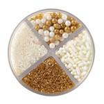 WILTON WILTON Pearlized Sprinkle Assortment - White / Gold