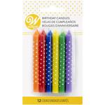 WILTON WILTON Birthday Candles Multi-Coloured with White Dots