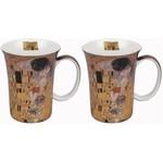 MCINTOSH MCINTOSH Klimt The Kiss Mugs S/2