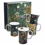 MCINTOSH MCINTOSH Klimt Flower Garden Mugs S/4
