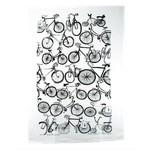 RAIN GOOSE RAIN GOOSE Bike Linen Tea Towel - Black