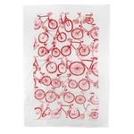 RAIN GOOSE RAIN GOOSE Bike Linen Tea Towel - Red