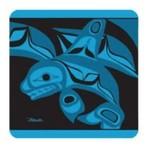 BILL HELIN Killer Whale Coaster Set