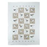 RAIN GOOSE RAIN GOOSE Botanical Birds Tea Towel - Taupe