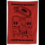 BILL HELIN Chilkat Tea Towel - Red / Black