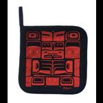 BILL HELIN Chilkat Pot Holder - Red / Black