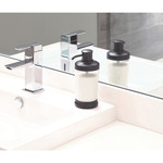 INTERDESIGN INC. INTERDESIGN Gina Soap Pump Round - Clear / Matte Black