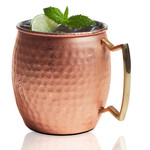 BRILLIANT BRILLIANT Hammered Moscow Mule Mug 20oz - Copper
