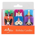 CANDLE DOGS W/HATS