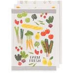 NOW DESIGNS NOW DESIGNS Bakers Flour Farm Market Tea Towel S/3 DNR