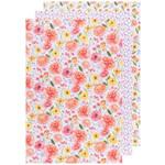 NOW DESIGNS NOW DESIGNS Bakers Flour Tea Towel S/3 - Cottage Floral