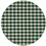 ANDREAS ANDREAS Gingham Forest Round Trivet