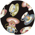 ANDREAS ANDREAS Tossed Tea Cups Round Trivet DNR