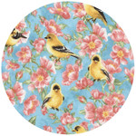 ANDREAS ANDREAS Goldfinch Garden Round Trivet