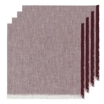 NOW DESIGNS NOW DESIGNS Heirloom Chambray Cloth Napkins S/4 - Wine