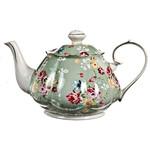 JL BRADSHAW JL BRADSHAW  Shabby Rose Teapot - Green