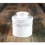 Antique Butter Bell - White Linen