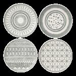 ED Charcoal Grey 21 cm Plates S/4 DISC