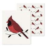 ABBOTT ABBOTT Swedish Dishcloth S/2 - Cardinals
