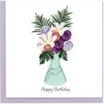 QCARD Bday Flower Vase