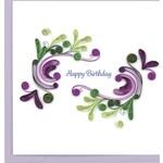 QCARD Birthday Swirls