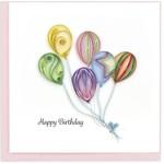 QCARD QCARD Colourful Balloon Bunch