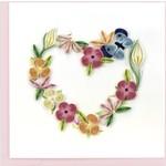 QCARD QCARD  Floral Wreath Heart