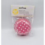 WILTON WILTON Baking Cup 75pc - Pink Dots
