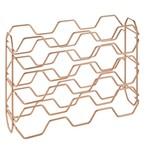 metaltex METALTEX Hexagon Stackable Wine Rack - Copper