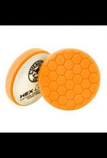 Hex-Logic BUFX_102HEX4 4'' Hex-Logic Pad Orange Medium-Heavy Cut Scratch & Swirl Remover Pad- (4''Inch)
