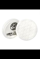 Hex-Logic BUFX_104HEX4 4'' Hex-Logic Pad - White Medium Light Polishing Pad (4''Inch)