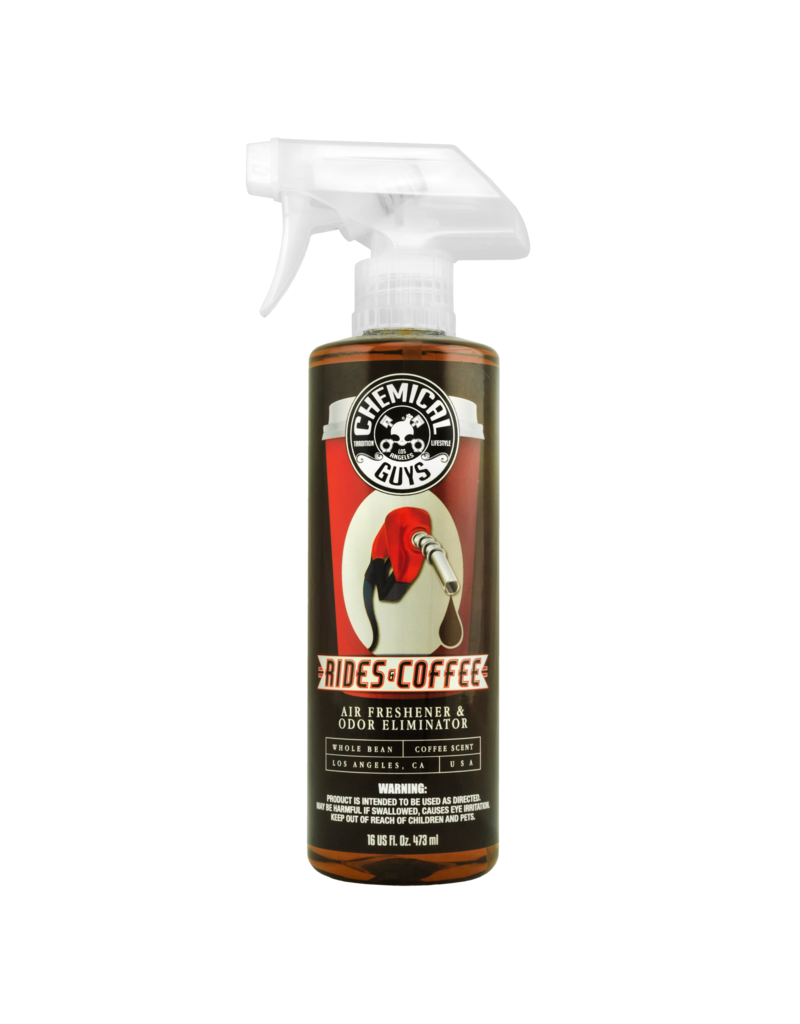 Chemical Guys AIR23616 - Rides and Coffee Scent Premium Air Freshener and Odor Eliminator (16 oz)