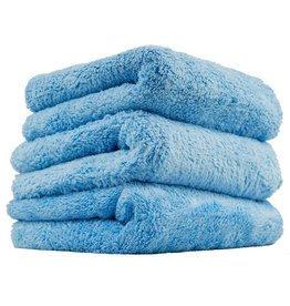 Chemical Guys MIC35003 Happy Ending Edgeless Microfiber Towel, Blue 16''X16'' (3 Pack)