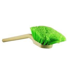 Chemical Guys 20'' Angled Head Body & Wheel Brush Flagged-Tip Bristles (Green Polystyrene Head-Peach Handle)