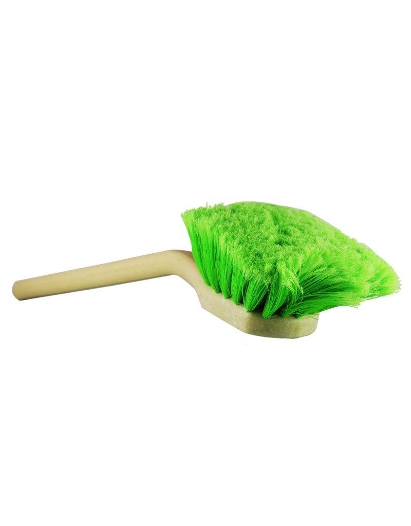 Chemical Guys ACC_G01 20'' Angled Head Body & Wheel Brush Flagged-Tip Bristles (Green Polystyrene Head-Peach Handle)