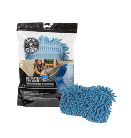 Chemical Guys Ultimate Two Sided Chenille Microfiber Wash Sponge, Blue