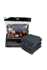 Chemical Guys MIC34703 Happy Ending Ultra Plush Edgeless Microfiber Towel, Black 16'' x 16'' (3 Pack)